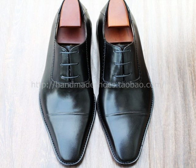 new business formal shoes black men's pointed toe leather oxfords shoes wedding lacing dress shoes