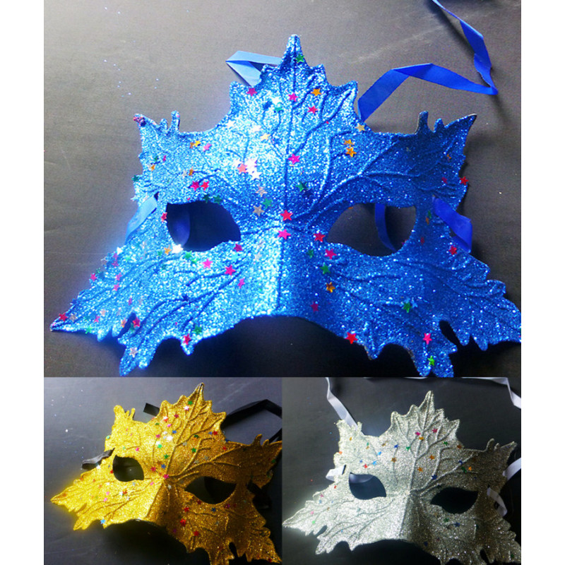 New Girls Woman Lady Fashion colourful Mask Maple leaf shape Prom Party Halloween Masquerade Dance Masks Accessories F2R(China (Mainland))