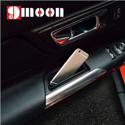 2016 New ! 2PCS Car Door storage box handle box glove armrest box For Ford Mustang 2015 Car styling(China (Mainland))