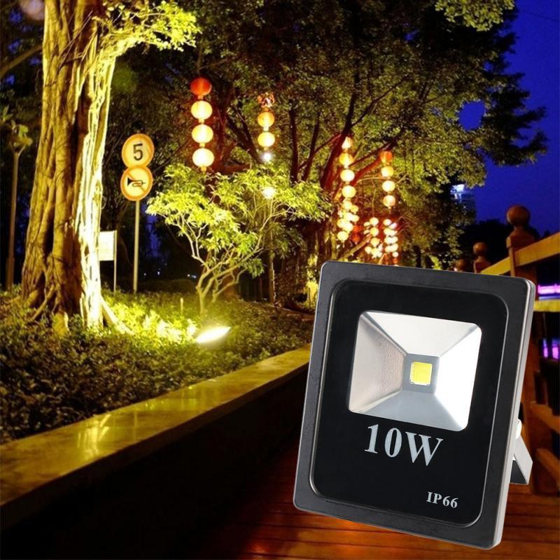 New High Quality GLW 10W LED Flood Light Cool Warm White Outdoor Slim Spotlight Shell Black<br><br>Aliexpress