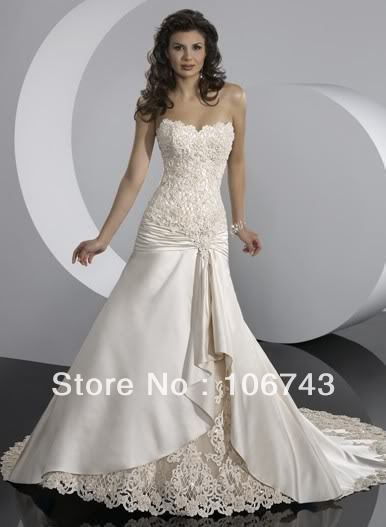 free shipping 2013 confirmation dresses african dress new design Applique Lace victorian style wedding dresses Bridal Gowns(China (Mainland))