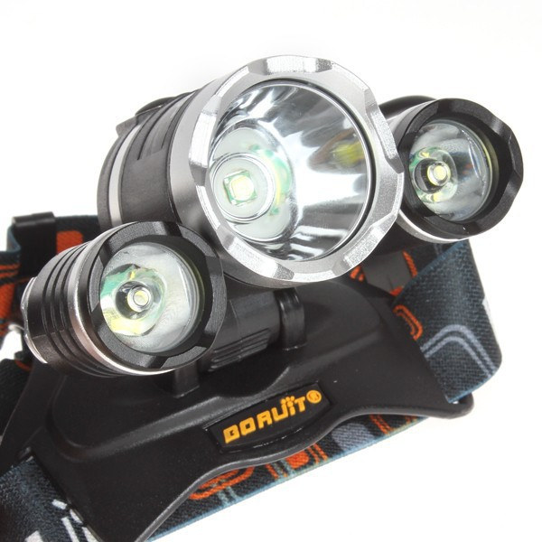 Boruit 5000 Lumens CREE XML T6 4 Modes LED Rechargeable Head Lamp Led Headlight Headlamp Hunting Flash Light Lamps Use 18650(China (Mainland))