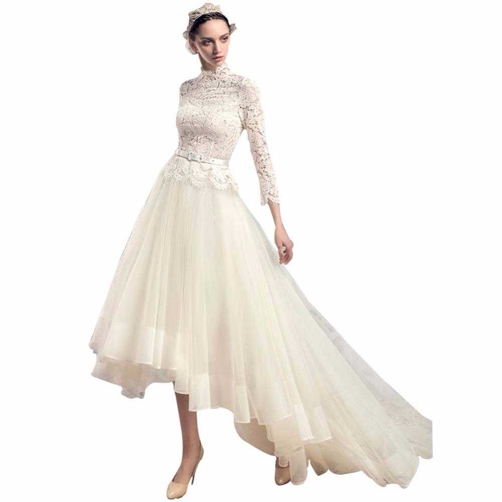 Popular high low hem wedding gowns buy cheap high low hem for Wedding dresses asymmetrical hemline