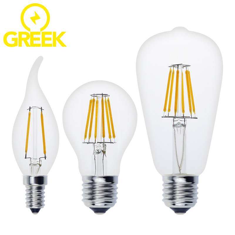 Quality Antique LED Edison Bulb E27 E14 Vintage LED Bulb Lamp 220V Retro LED Filament Light Candle Light Lamp 4W 8W 12W 16W(China (Mainland))