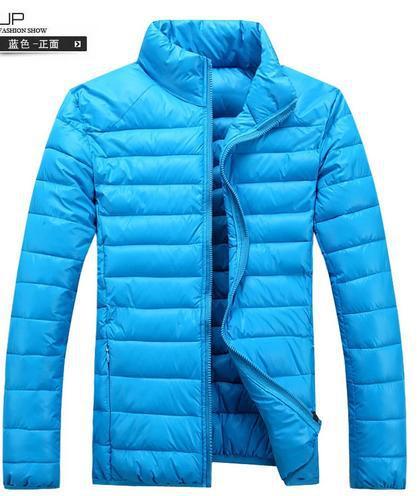 warm jacket collar Korean Slim cotton down coat Men's candy-colored padded cotton jacket 722069(China (Mainland))