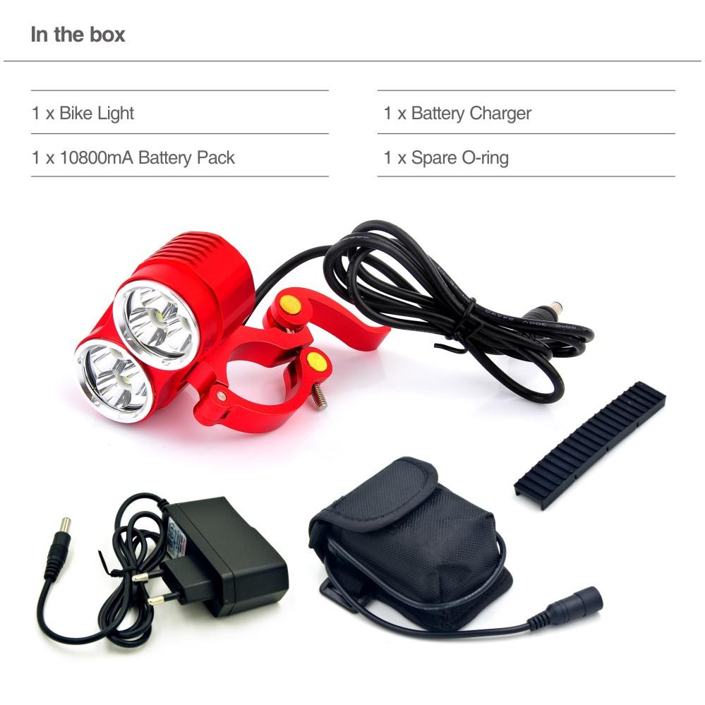 New 10000 Lumens Cree LED Bike Bicycle Light Lamp, 3 Modes CREE T6 LED Bike Front Light Bicycle Lamp Torch(China (Mainland))