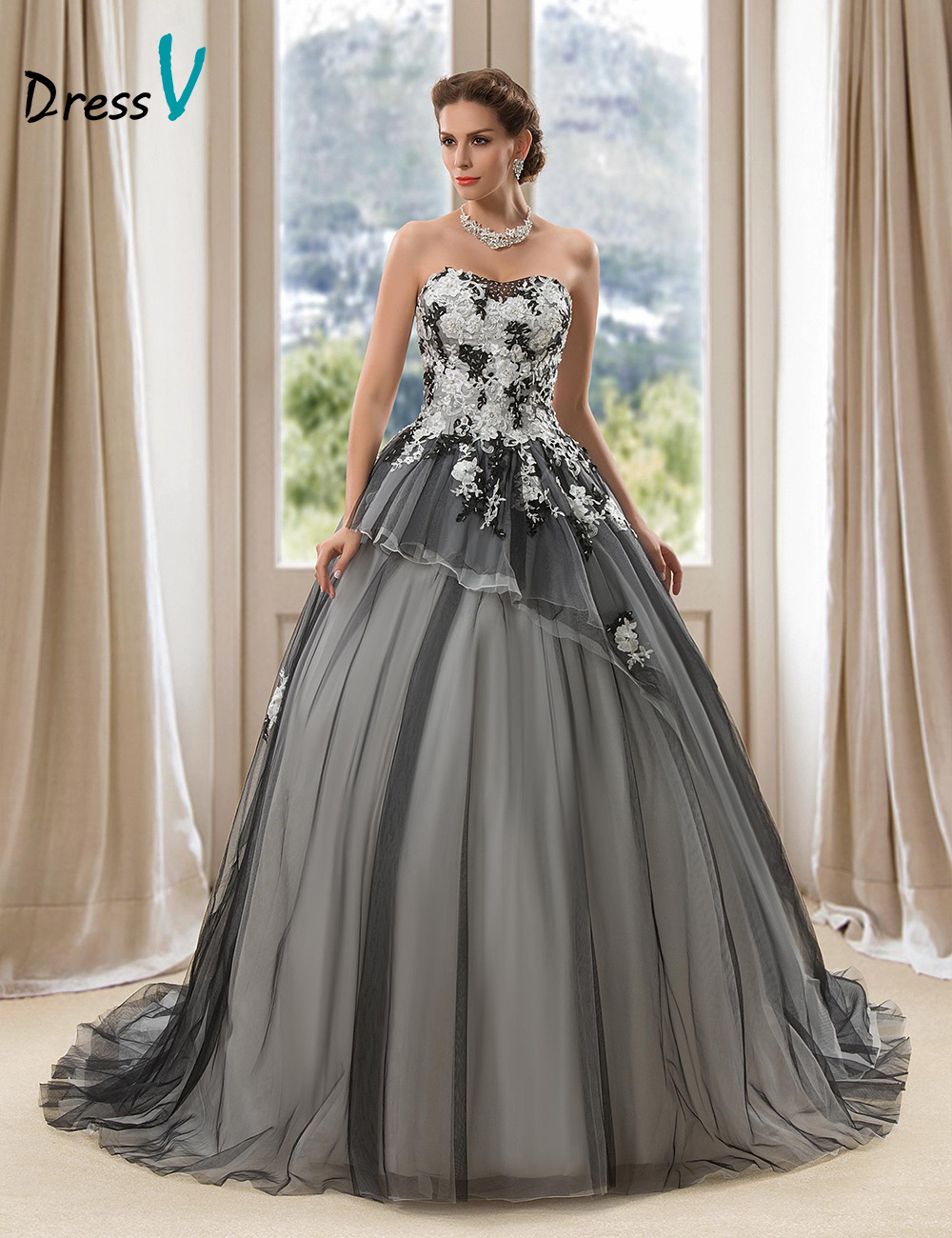 Black Lace Wedding Dresses Ball Gowns – Dresses for Woman