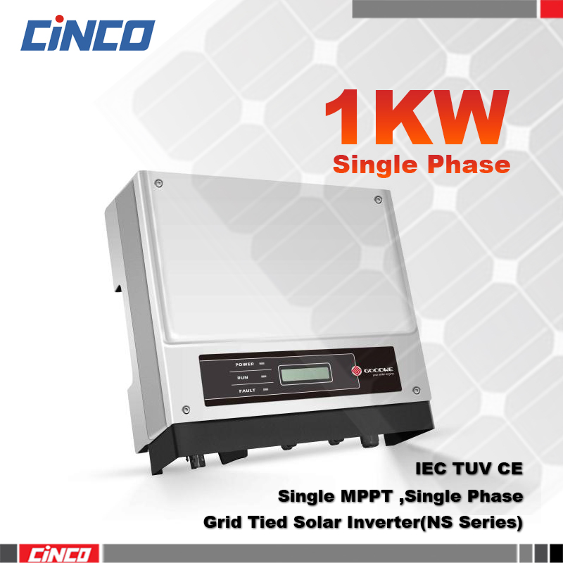 GW1000-NS On grid inverter 1kw 230v 50/60HZ,sell electric to grid of city ,connected 200w 250w solar panel for solsr system(China (Mainland))