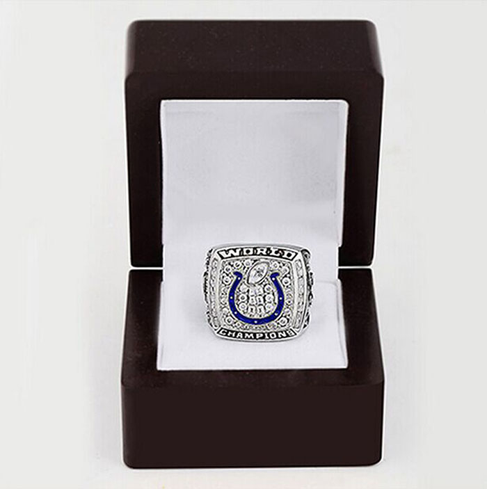 Bottom price 2006 Indianapolis Colts Replica Super Bowl Copper High Quality world Championship Rings with Gorgeous Wooden Boxes(China (Mainland))