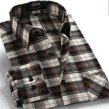 New Fashion 2014 men shirts plaid causal shirt long sleeve flannel high quality mens clothes  free shipping(China (Mainland))
