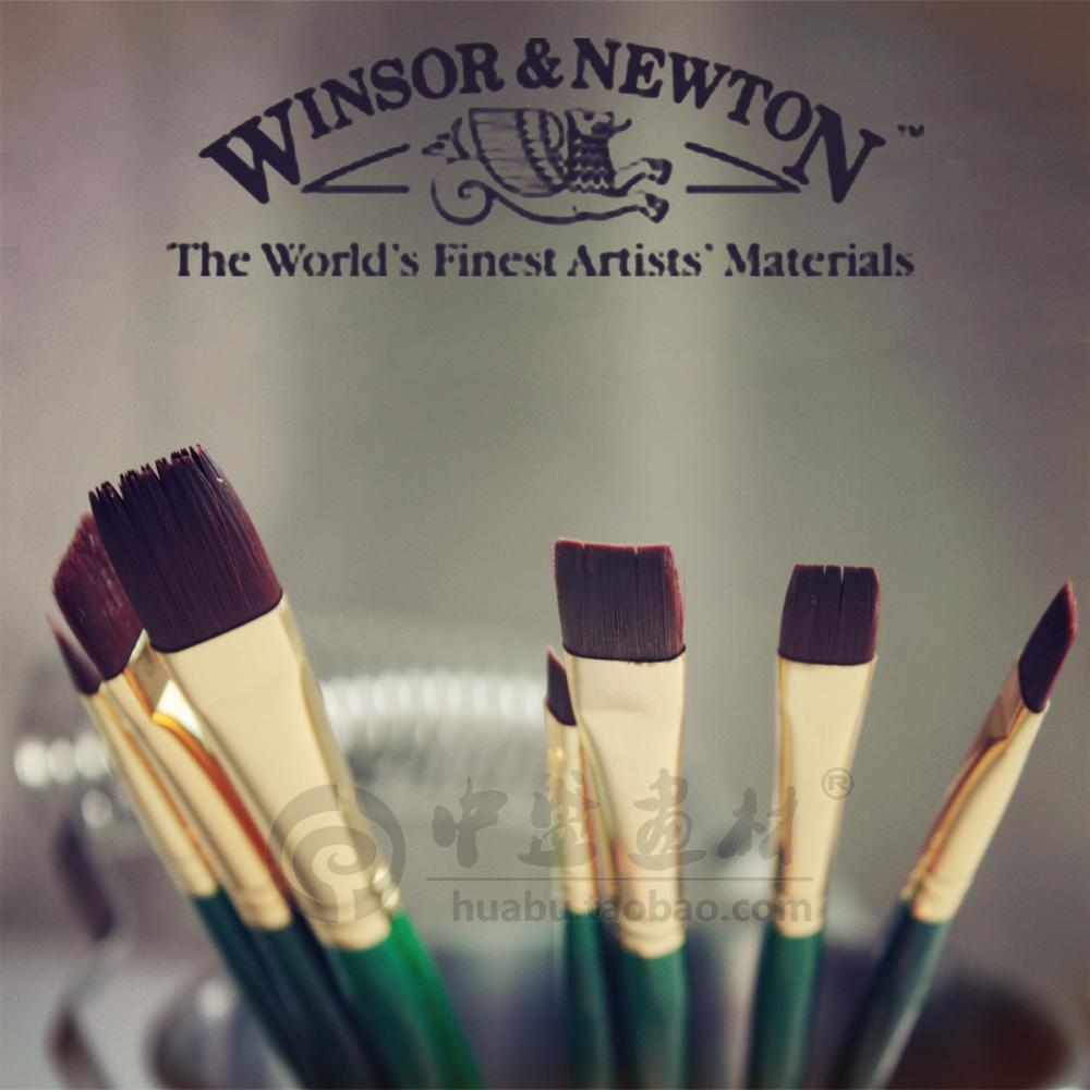 Winsor & Newton Extra fine Acrylic,oil color paint bursh.Art brush set.A short flat.wooden handle,High grade.Good quality. - SKY ART MATERIAL CO.,LTD. store