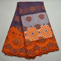 Top Selling Multicolor Cord Lace Fabric High Quality African Cotton Guipure Cord Lace With Beads And