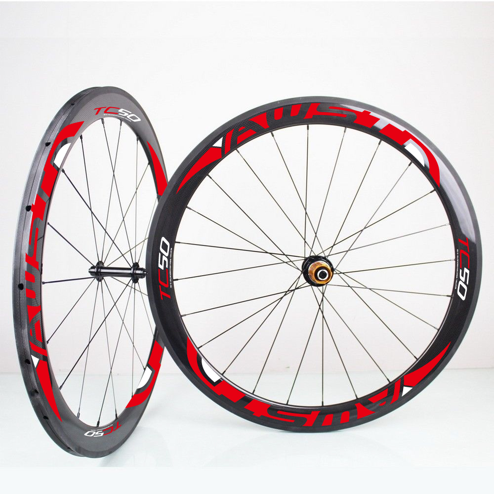 50mm clincher full carbon fiber road bike wheel bicycle for Bicycle rims