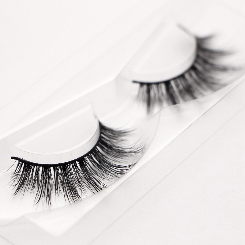 Free shipping long soft 2001 3D mink lashes 1pcs/lot 100% real mink ...