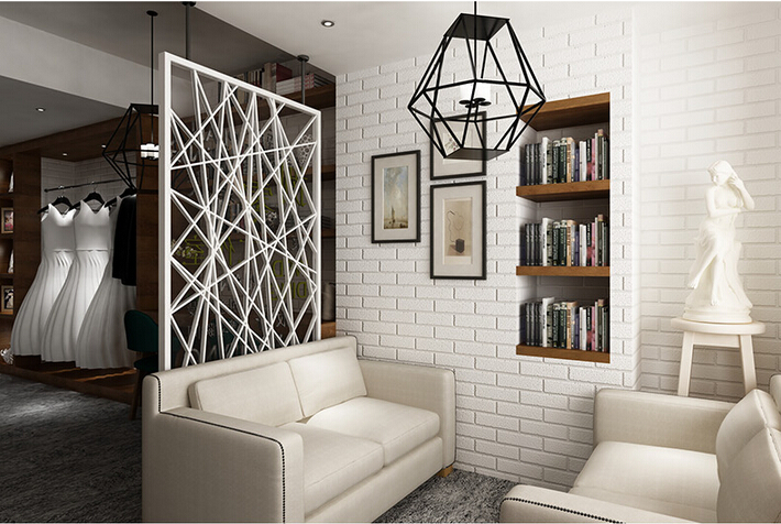 Buy happy at home modern vintage brick stone pattern paper for White living room wallpaper
