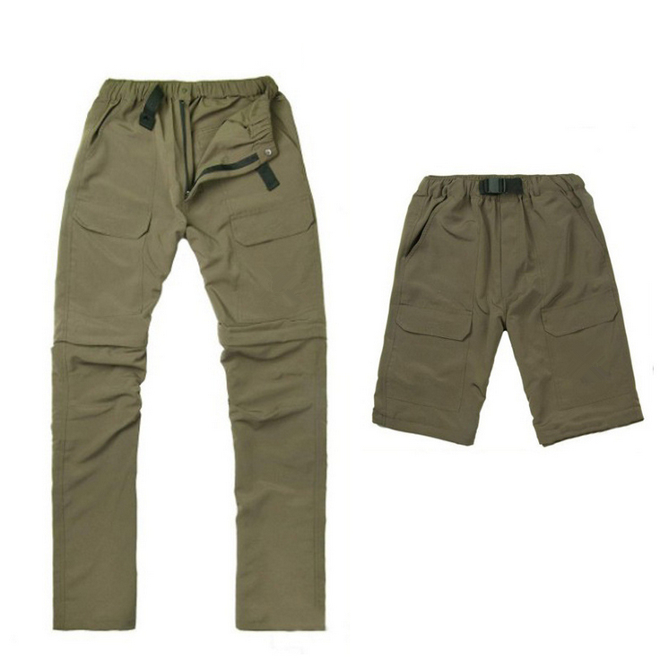 Summer Sport Camping&Fishing UVPant Men Outdoor Quick Dry Climbing&Trekking Trousers Removable 2Wear Brand Hiking Pant Plus Size(China (Mainland))