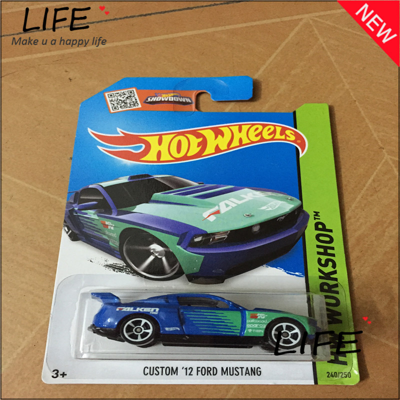 Free Shipping Hot Wheels Custom 12 Fod Mustang Car Models Metal Diecast Cars Collection Kids Toys Vehicle For Children Juguetes(China (Mainland))