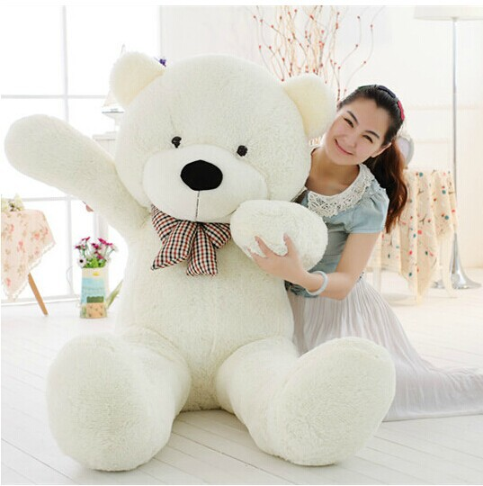 Joyfay 63'' 160cm White Giant Teddy Bear 1.6m Huge Stuffed Plush Animal Big Soft Toy Best Birthday Valentine Anniversary Gift(China (Mainland))