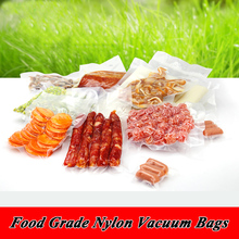 200pcs/lots 14cm*20cm*160micron HIgh Quality PA/PE Clear Food Vacuum Bag Frozen Foods Packaging Bag(China (Mainland))