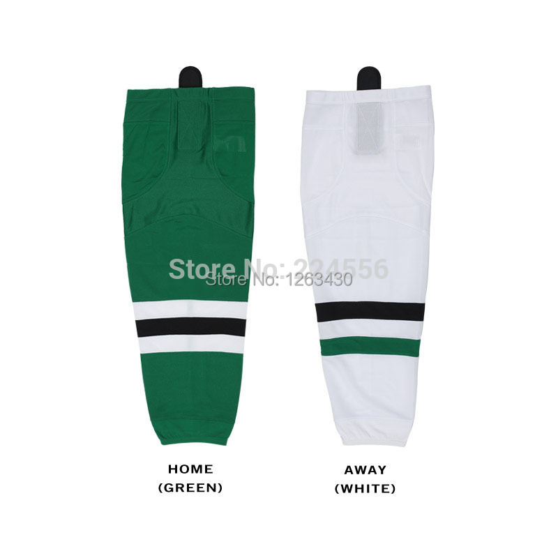 Mens/youth dallas stars adult ice hockey socks Equipment Team home/away kids hockey socks -can be Custom Any Team & Color & Size(China (Mainland))
