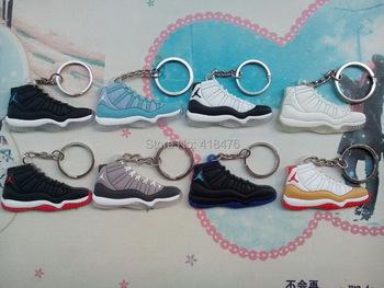 Free shipping! AJ 11 2D Shoes Keychain,basketball keychain,Sneaker Key Ring (8pcs/lot)