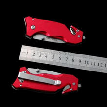 Outdoor folding mini sharp weapons wilderness pocket high hardness survival jungle camping hunting tool portable red