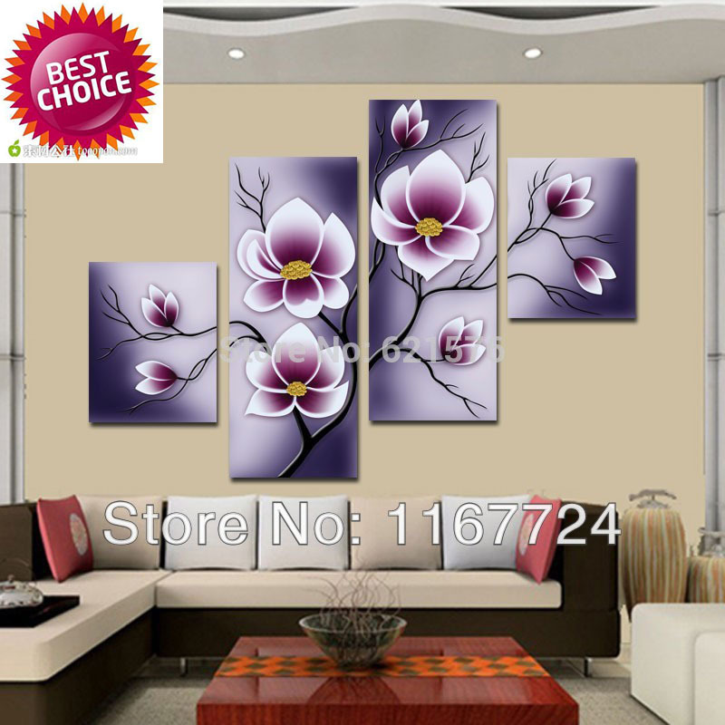com : Buy Hand painted modern wall art picture living room home decor ...