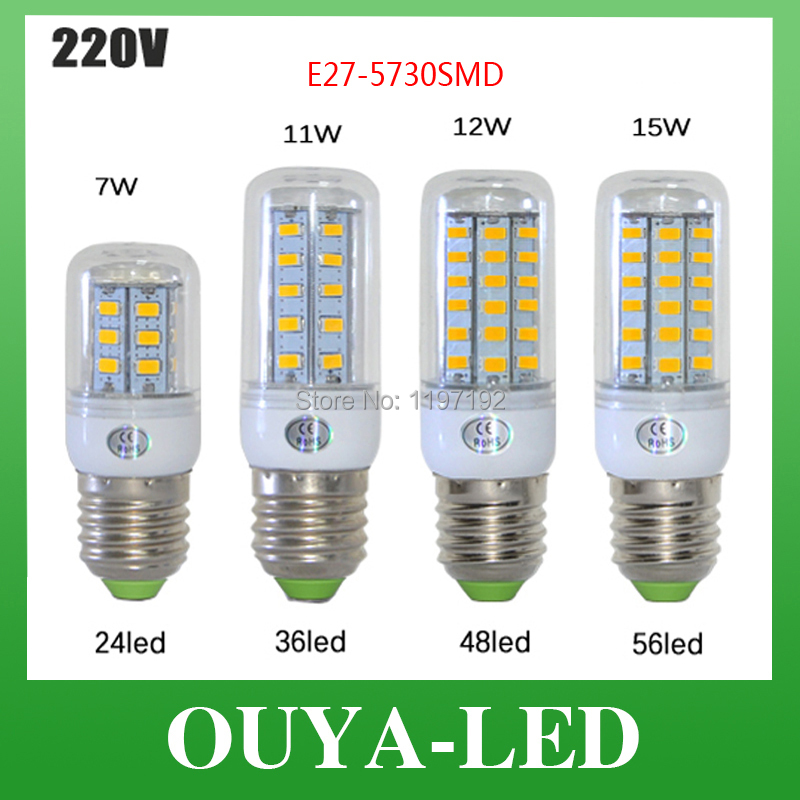 Bombillas LED Bulb E27 SMD 5050 lamparas LED Light 56LED Lampada LED Lamp E27 220V Ampoule Candle Luz(China (Mainland))
