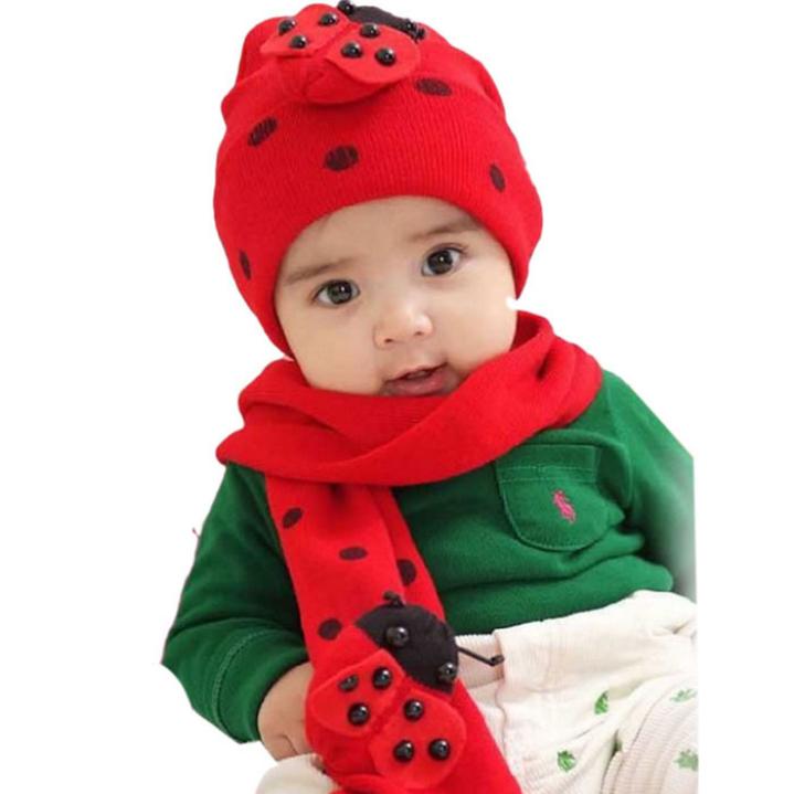 Amazing Fashion Beatles baby hat cap scarf twinset Cotton Beatles hat children hat+scarf(China (Mainland))