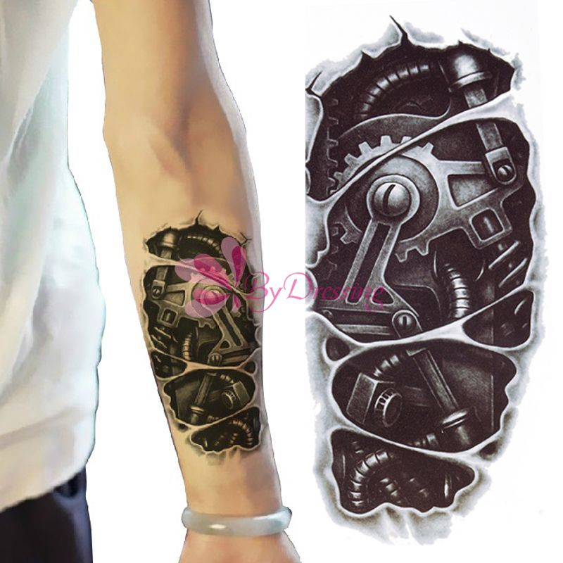 New 3D Waterproof Robot Arm Temporary Tattoo Stickers Body Art Removable Tatoo#61685(China (Mainland))