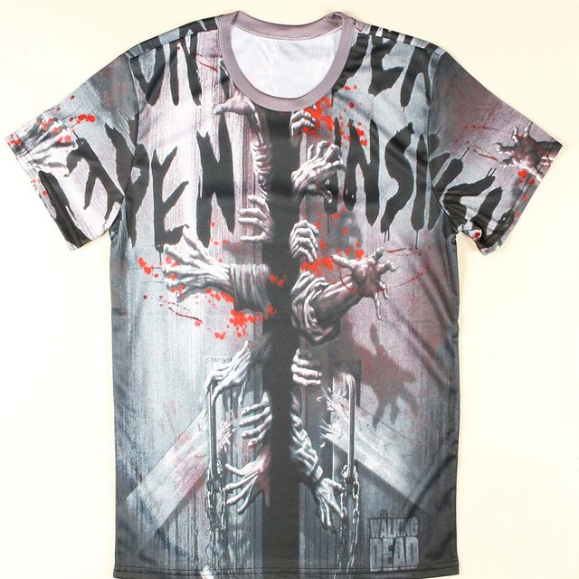Мода новые люди футболки ходячих мертвецов топ ти торможения гейзенберг Camisetas ...