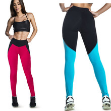 Summer Style Fitness Women Sports Leggings Solid Patchwork Ankle-Length Workout Capris Women Pants Breathable Gym Trousers L128(China (Mainland))