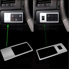 ABS Chrome fog lamp switch trim interior frame decoration auto parts for Mazda CX-5 CX5 2.0 2.5 2012-2013 1pc