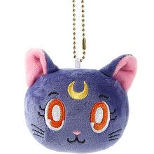 Mini 6 10 10 cm dos desenhos animados anime sailor moon chaveiro de pelúcia criativo luna gato macio saco de pelúcia pingentes de natal charme pulseira de celular boneca(China)