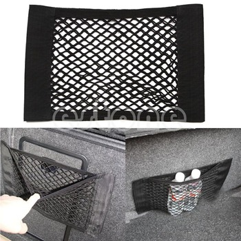 1PC Car Back Rear Trunk Seat Elastic String Net Mesh Storage Bag Pocket Cage free shipping