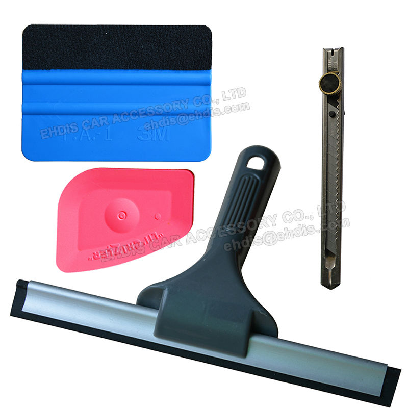 Useful 4 in 1 Car Window Film Tools Squeegee Scraper Set Kit Car Home Tint(China (Mainland))