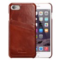 For iPhone 7 Case Genuine Leather Vintage Series Leather Case 2 Card Slots Ultra Slim Leather