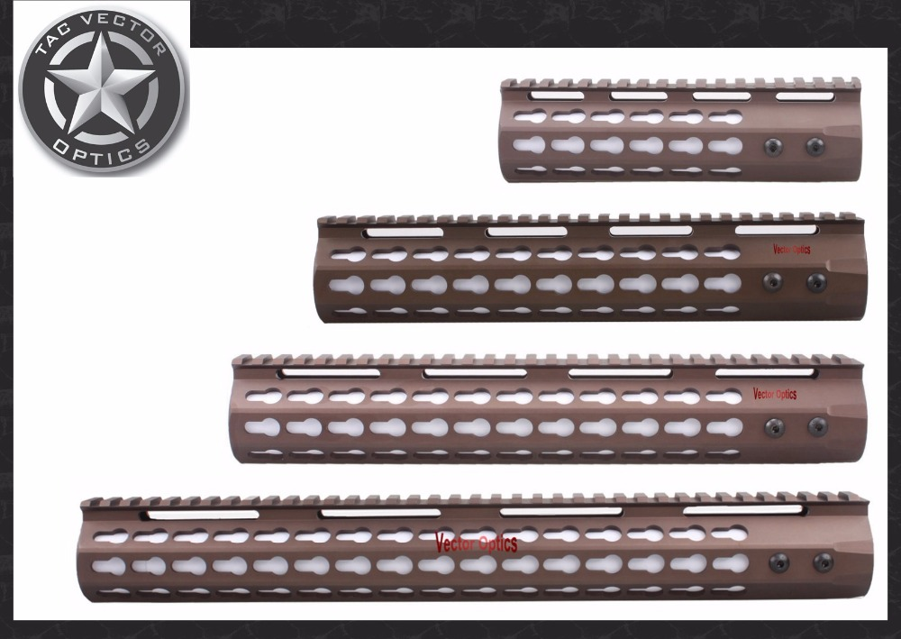 TAC Vector Optics GEN III Slim Key Mod 7'' 10'' 12''' 15'' inch AR15 Free Floating Handguard Picatinny Scope Rail Mount Bracket - store