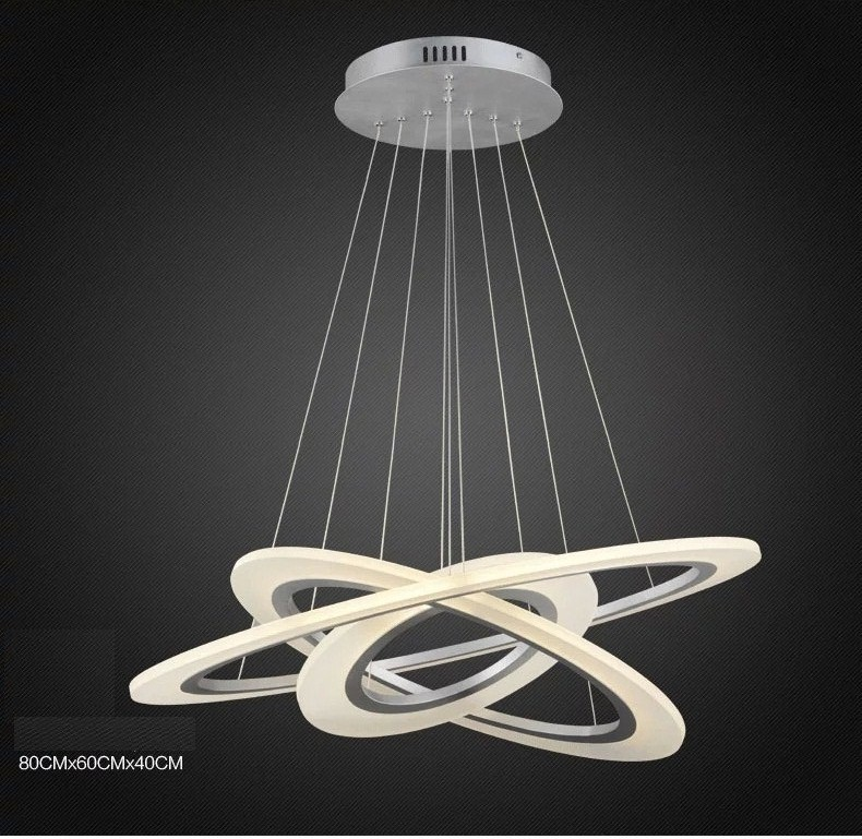 Suspension LED chandelier Acrylic chandelier lamp rings