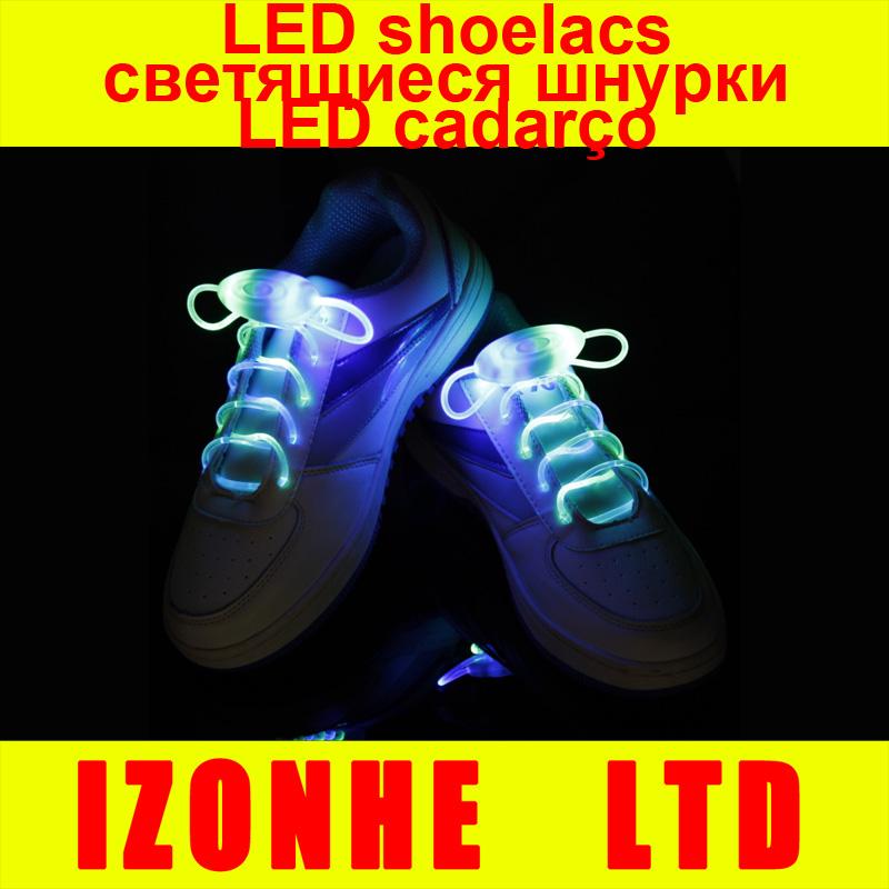 2015 Popular Men Women Light Up LED Shoelaces Party Glowing Night Running Shoe Laces Club Highlight Luminous Shoelace(China (Mainland))