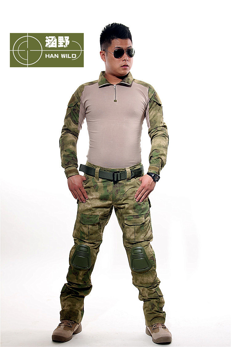 Emerson Combat uniform shirt & Pants knee pads Military Army MultiCam suit tactical Navy seals k025