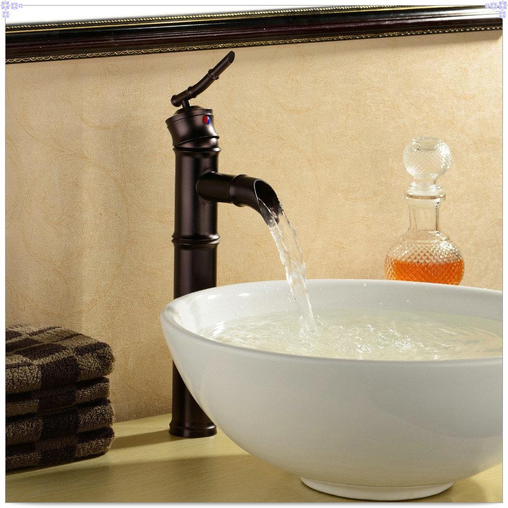 Oil rubbed bronze bathroom sink faucet