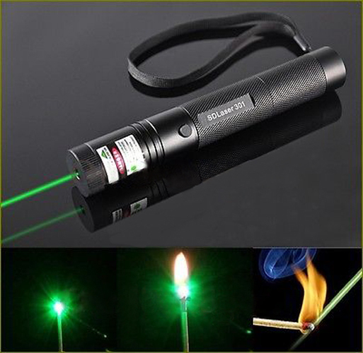 G301 Focus Burn 532nm Green Laser Pointer Pen Lazer Beam Military Green Lasers(China (Mainland))