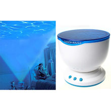 Romantic Ocean Daren Blue Waves Bedroom LED Night Light Projector Lamp MP3 Music Speaker Decorate For Girl Kids Christmas Gift(China (Mainland))