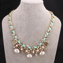 Necklace 2014 Newest Trendy Beads Necklace For Modern Women Suitable In Autumn & Winter Wear Free Shipping (China (Mainland))