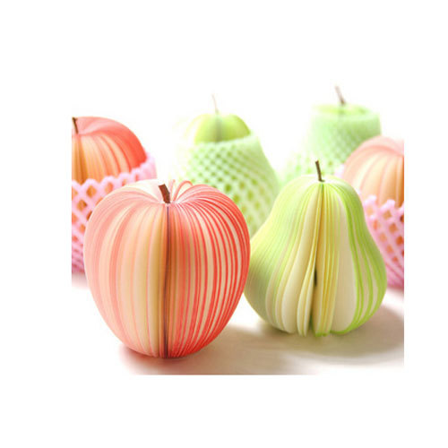 10pcs /lot Creative Novelty Apple Fruit Shaped Notepads Memo STATIONARY NOTES Cute Gift Pad Scratchpad Paper(China (Mainland))