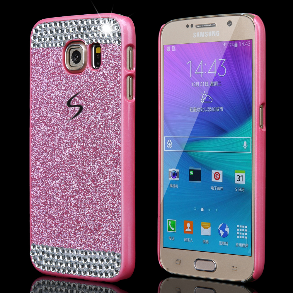 New Fashion Glitter powder rhinestone bling phone case for Samsung Galaxy S4 I9500 Luxury diamond clear crystal back cover(China (Mainland))