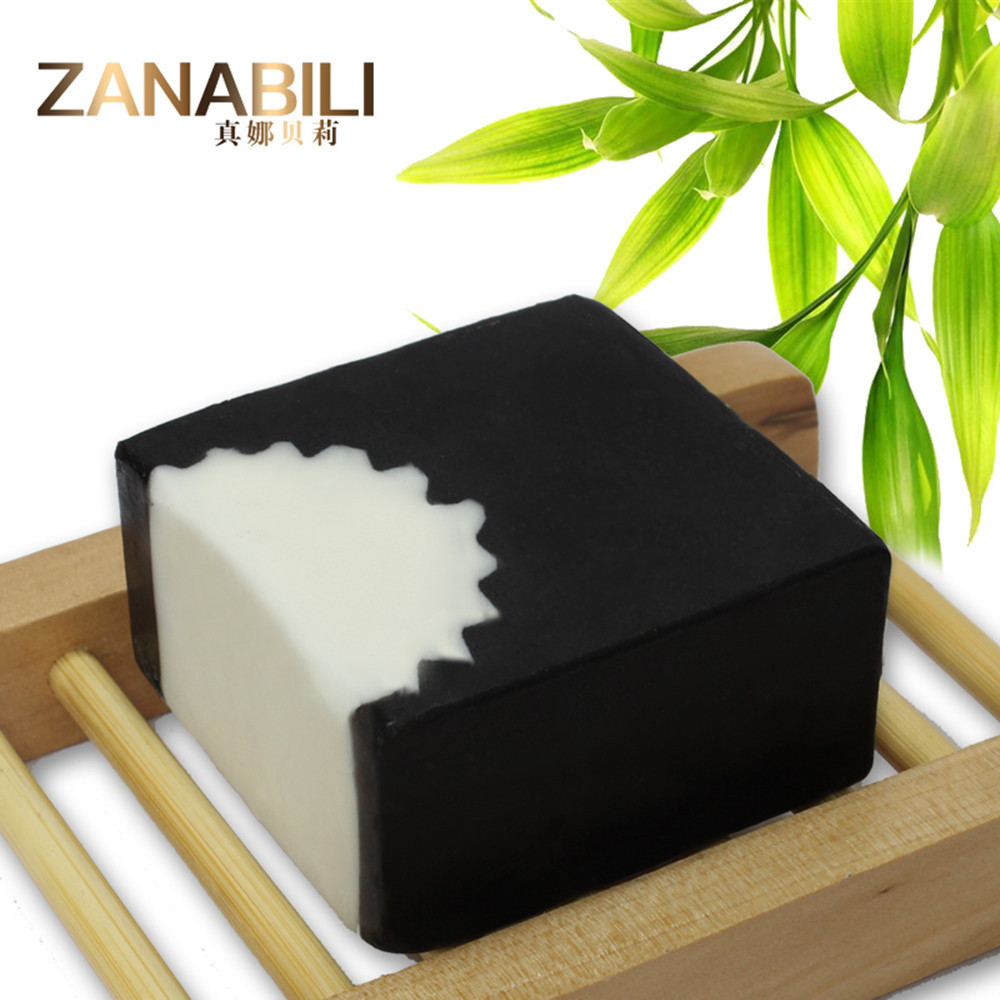 (3pcs/lot) Wholesales Natural Handmade Black Bamboo Charcoal Soap For Face and Body Bath Anti Acne and For Removing Blackheads<br><br>Aliexpress