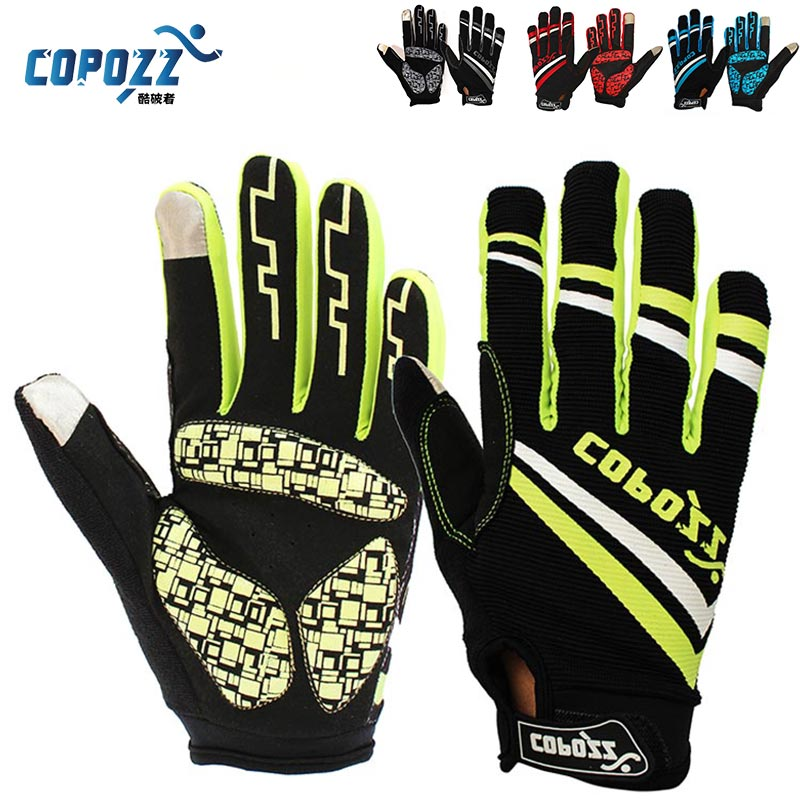 Copozz Brand New GEL Full Finger Men Cycling Gloves mtb bike gloves/bicycle ciclismo racing sport breathable thick shockproof(China (Mainland))