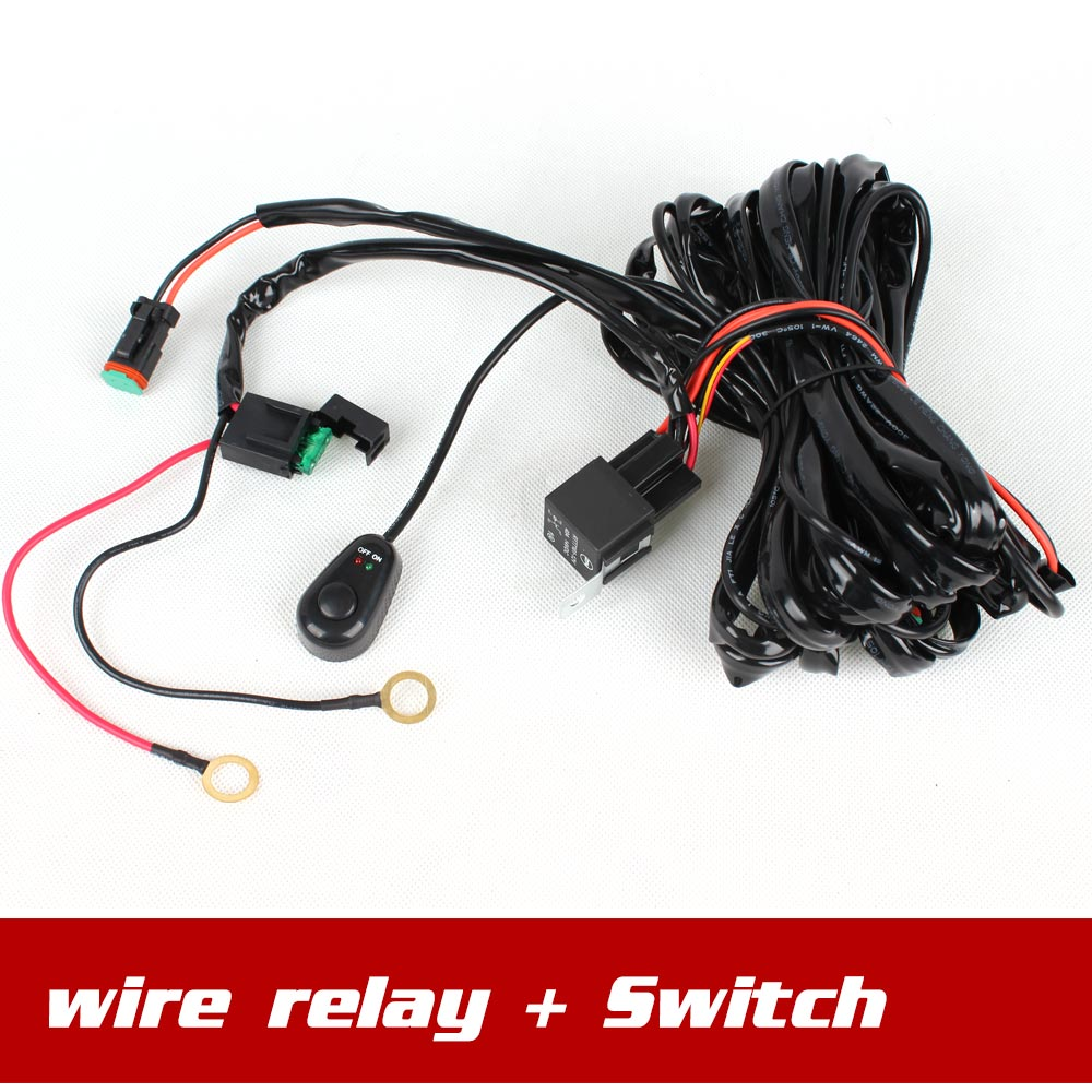 high quality wiring harness controller buy cheap wiring harness wire control relay switch wire harness for spotlights hid drive work light led work light bar
